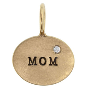 Mom Horizontal Oval Charm