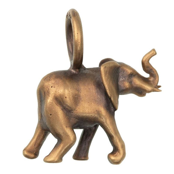 African Elephant Sculptural Charm