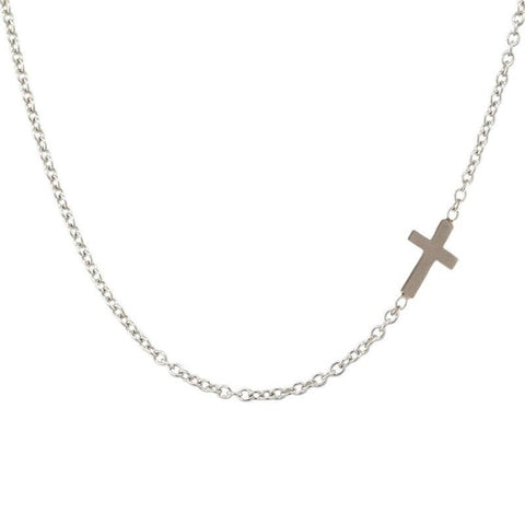 1.5mm Silver Chain With Cross Accent - Heather B. Moore