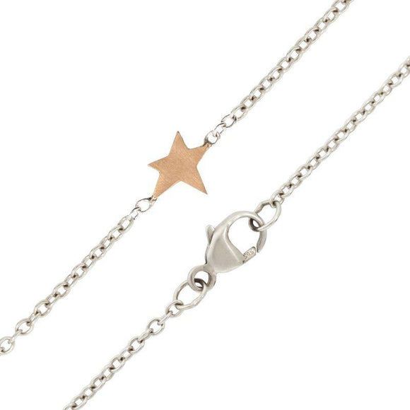 1.5mm Silver Chain With Abstract Star Accent