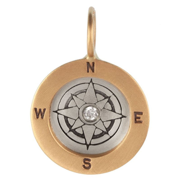 Heather B. Moore Compass Round Charm