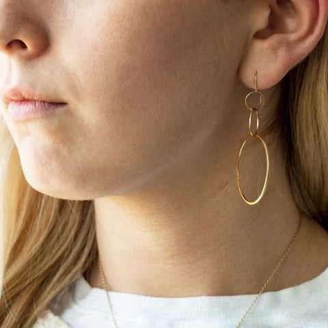 Three Linked Earrings