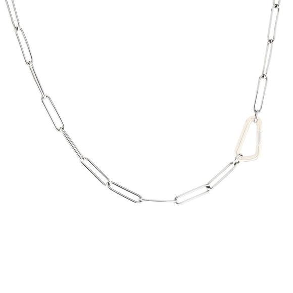 3.8mm Silver Link Chain - No Hinge - Heather B. Moore