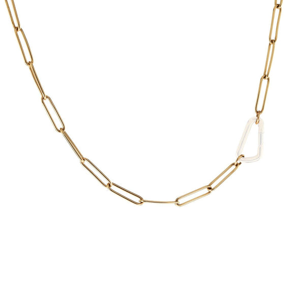 3.8mm Gold Link Chain - No Hinge