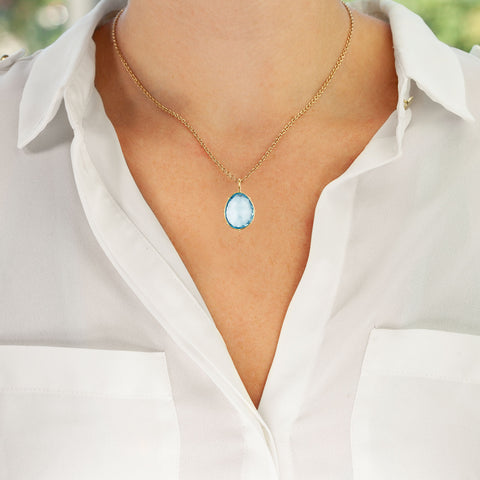 Medium Sky Blue Topaz Harriet Stone
