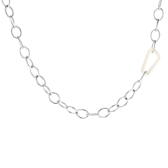 6.3mm Silver Chain - No Hinge