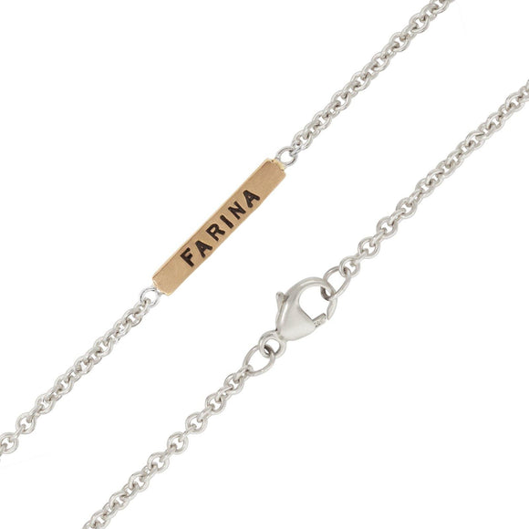 2mm Silver Chain With Gold Bar