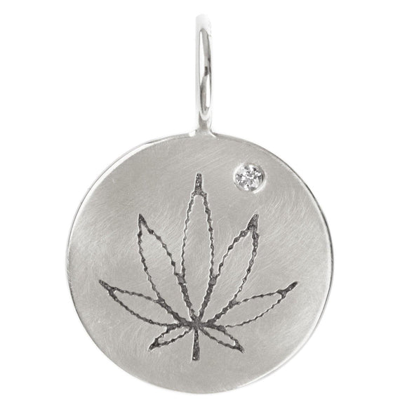 Cannabis Round Charm - Heather B. Moore