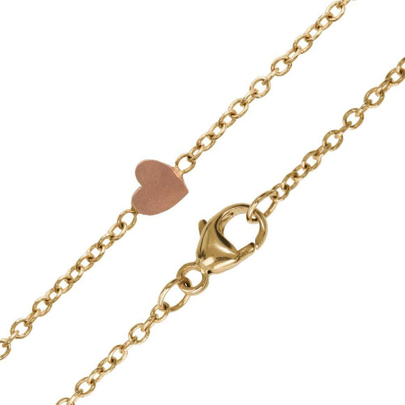 1.5mm Gold Chain With Heart Accent