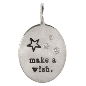 Make a Wish Oval Charm