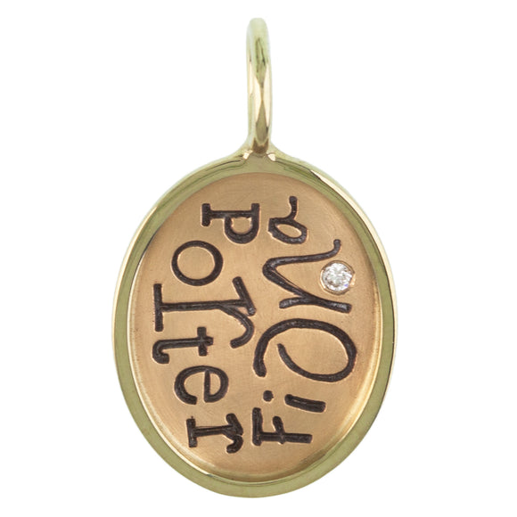 Double Name Graffiti Oval Charm