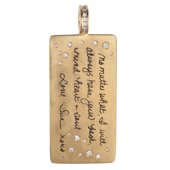 Handwritten Message ID Tag - Heather B. Moore