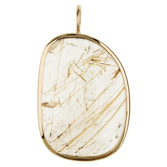 Gold Rutilated Quartz Elizabeth Stone