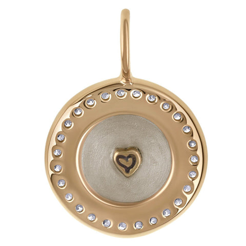 Mom Channel Set Round Charm - Heather B. Moore