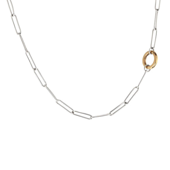 3.8mm Silver Link Round Clip Chain - Heather B. Moore