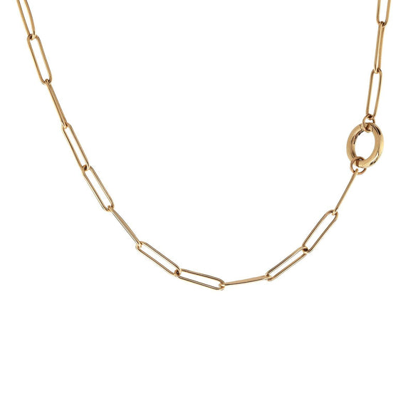 3.8mm Gold Link Round Clip Chain