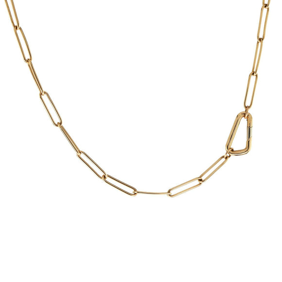 3.8mm Gold Link Carabiner Chain - Heather B. Moore