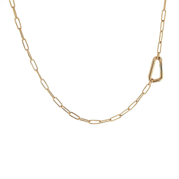 2.9mm Gold Link Carabiner Chain - Heather B. Moore