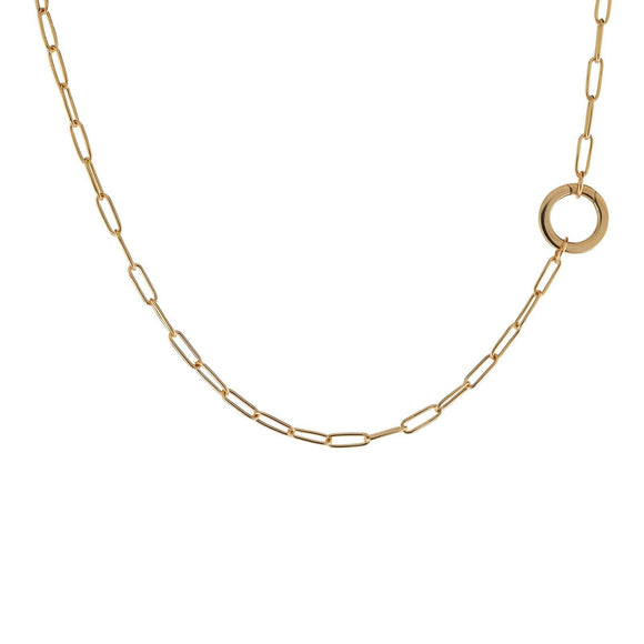 2.9mm Gold Link Round Clip Chain