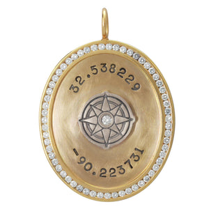 Coordinates Channel Set Oval Charm