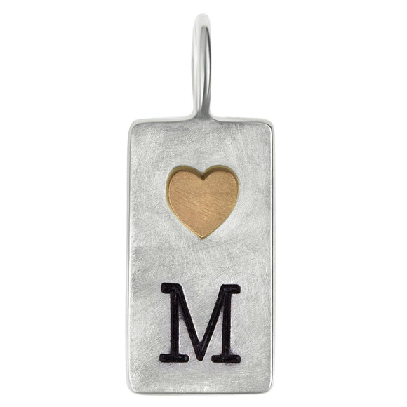 Initial and Heart ID Tag - Heather B. Moore