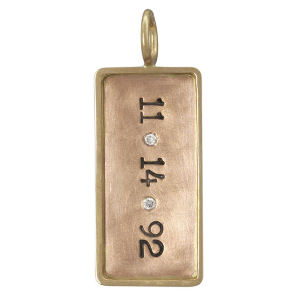 Date and Diamond ID Tag - Heather B. Moore