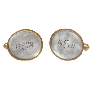 Oval Monogram Cufflinks - Heather B. Moore