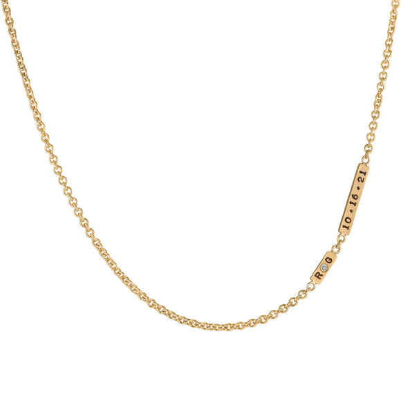 2mm Gold Anniversary Bar Chain
