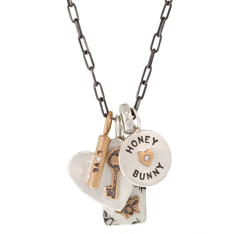 Honey Bunny Round Charm