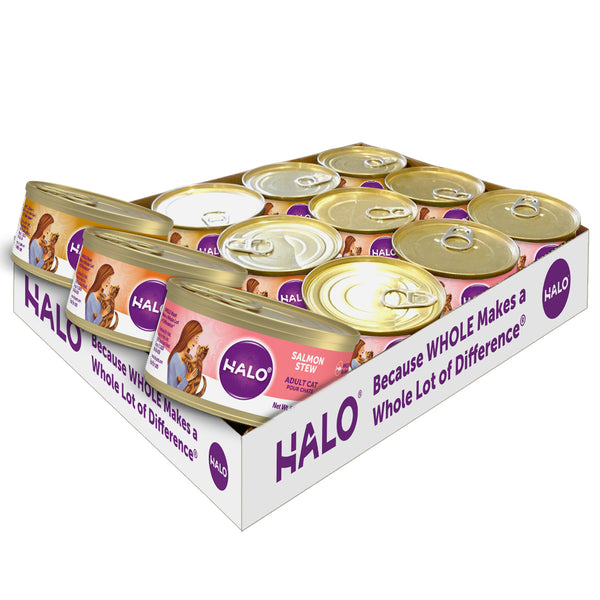 Halo Cats Variety Pack: Grain Free Chicken, Salmon, Turkey