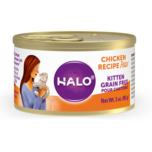 Halo Kitten Grain Free Chicken Recipe Pate Halo Pets