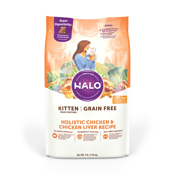 Halo Kitten Recipe Holistic Grain Free Chicken Chicken Liver Recip Halo Pets