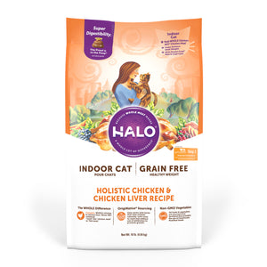 Halo Indoor Cat - Holistic Healthy Weight Grain Free Chicken & Chicken Liver Recipe
