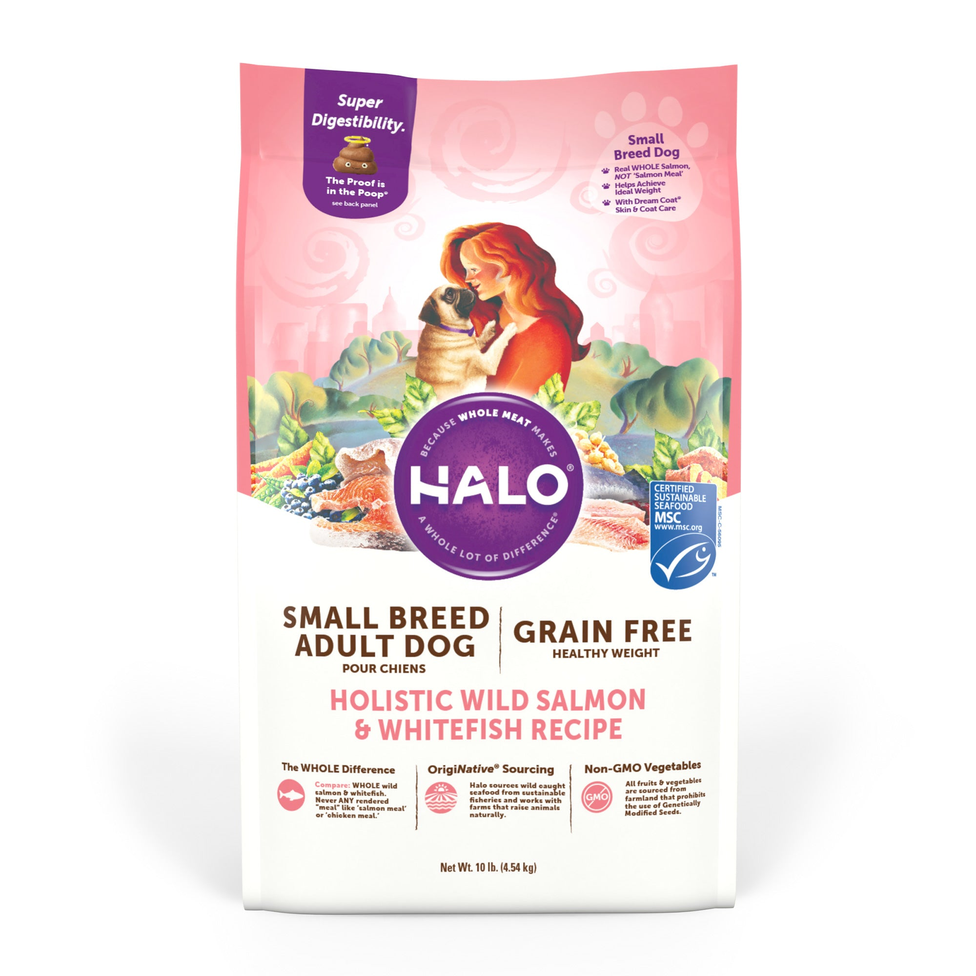 Halo Small Breed - Holistic Healthy Weight Grain Free Wild Salmon & Whitefish Recipe