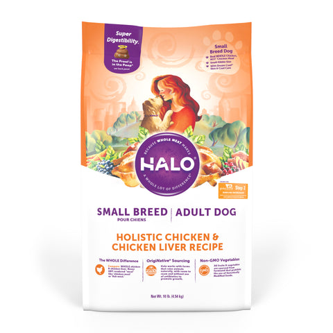 Halo Small Breed - Holistic Chicken & Chicken Liver Recipe