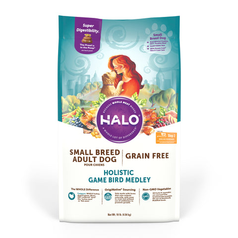 Halo Small Breed - Holistic Grain Free Game Bird Medley