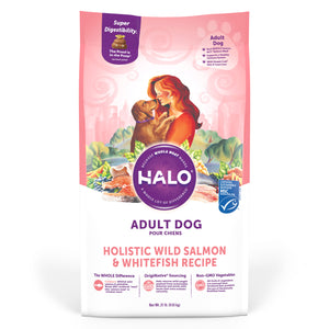 Halo Adult Dog - Holistic Wild Salmon & Whitefish Recipe