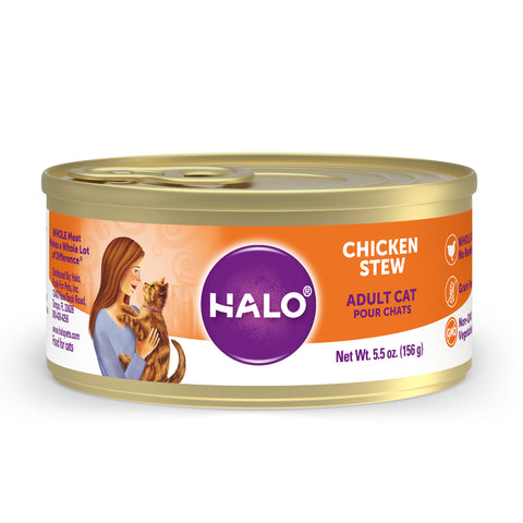 Halo Adult Cat - Grain Free Chicken Stew