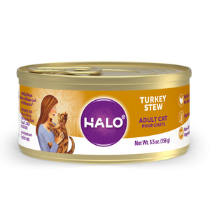 Halo Adult Cat - Grain Free Turkey Stew