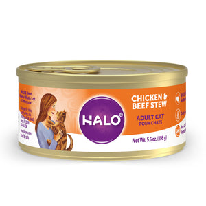 Halo Adult Cat - Grain Free Chicken & Beef Stew