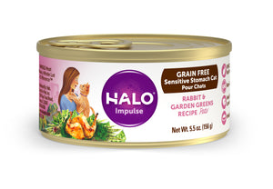 Halo Cat Sensitive Stomach - Grain Free Rabbit & Garden Greens Recipe Pâté