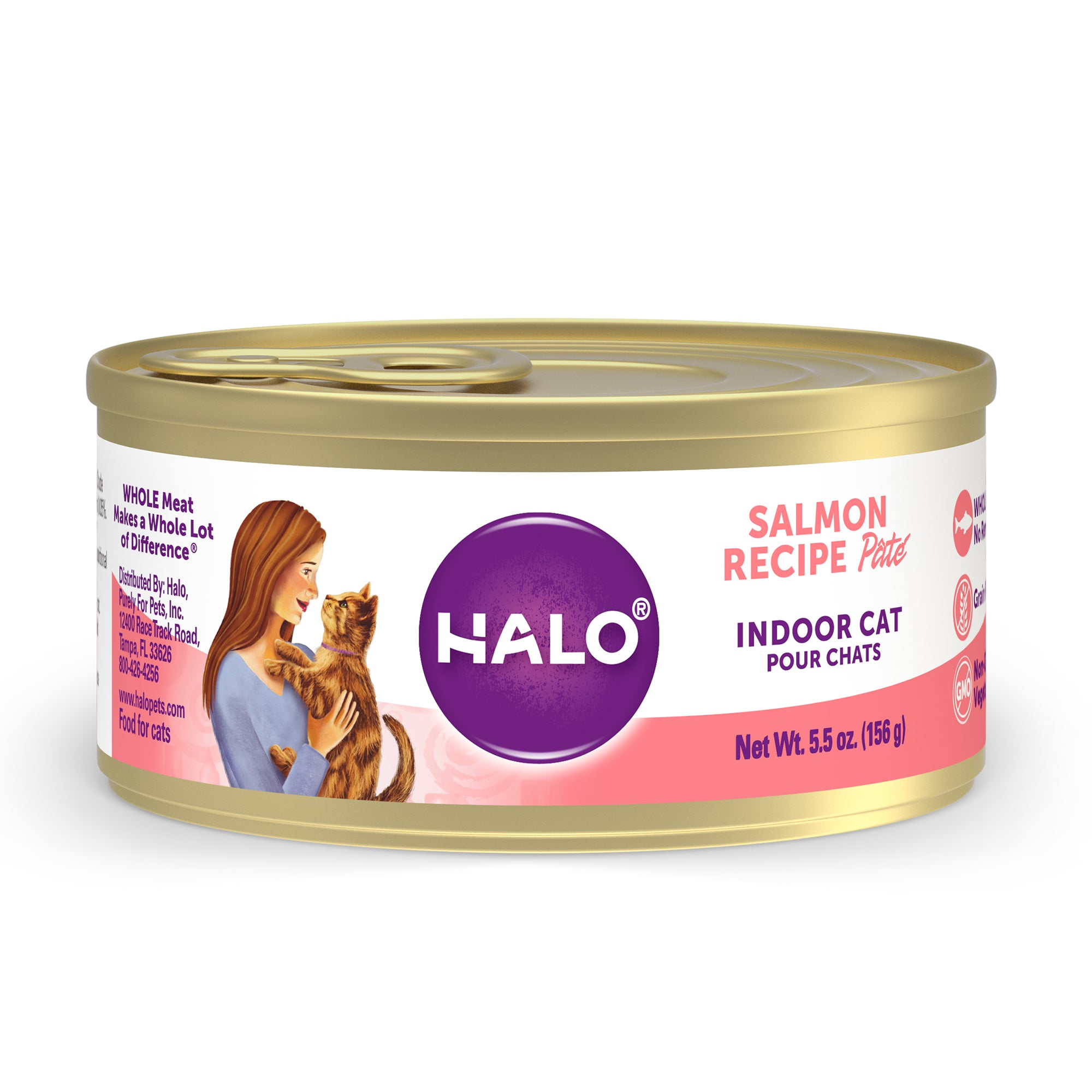 Halo Indoor Cat - Grain Free Salmon Recipe Pâté