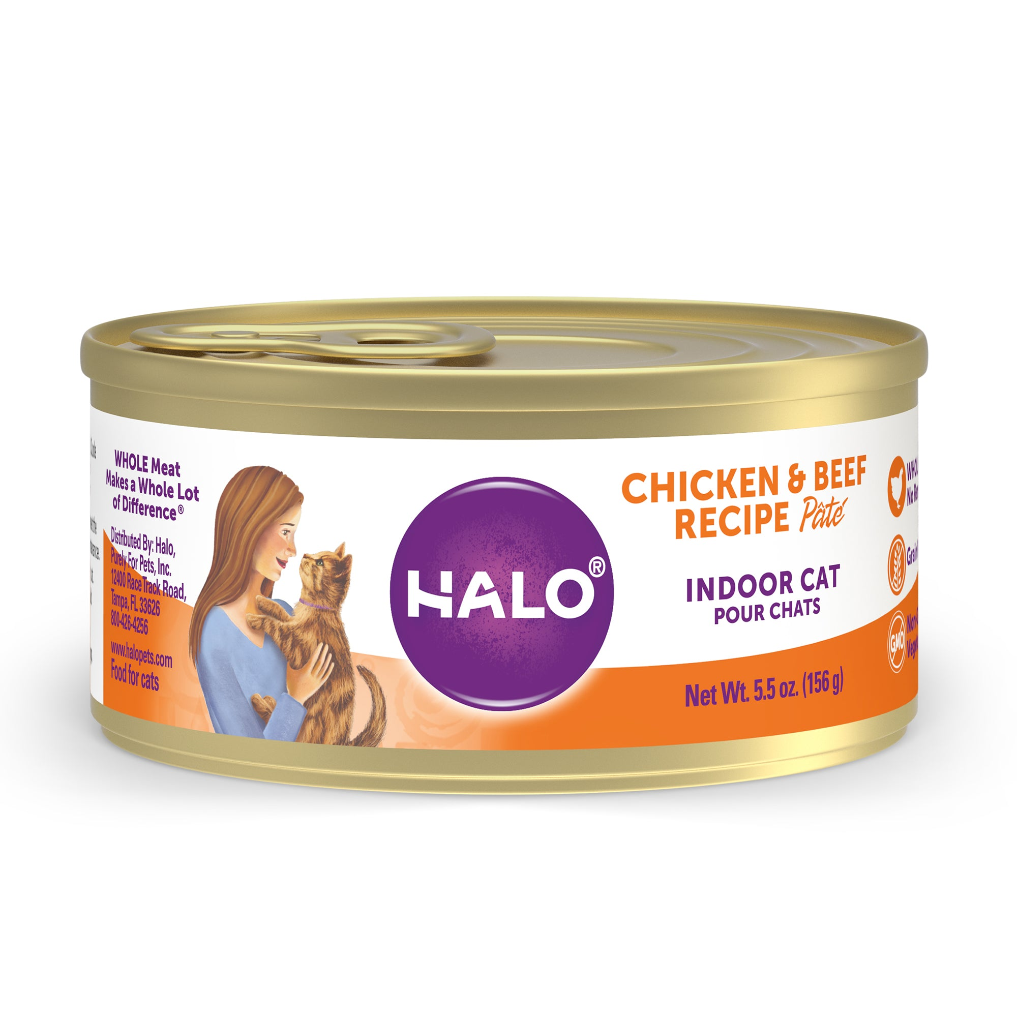 Halo Indoor Cat - Grain Free Chicken & Beef Recipe Pâté