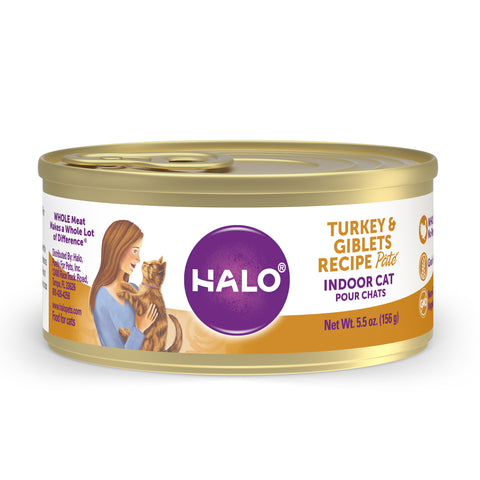 Halo Indoor Cat - Grain Free Turkey & Giblets Recipe Pâté
