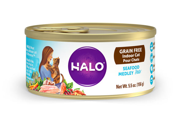 Halo Indoor Cat - Grain Free Seafood Medley Recipe Pâté