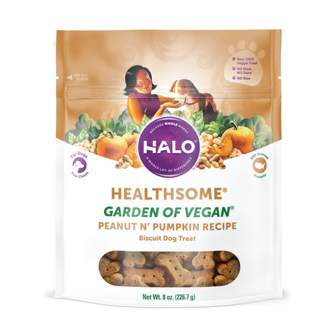 Healthsome Garden of Vegan Peanut n' Pumpkin Dog Treats