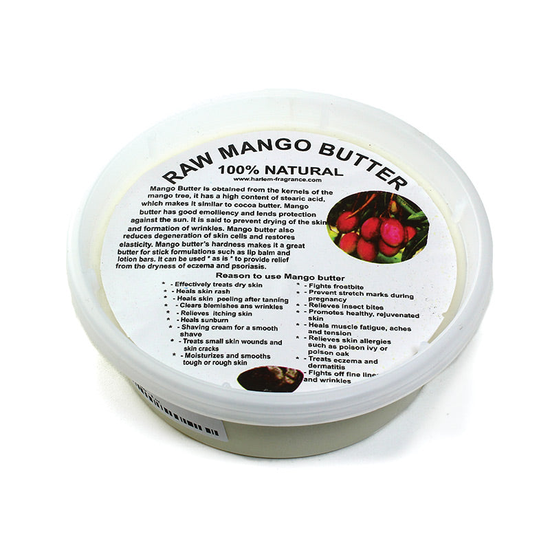 100% Pure Raw Unrefined Mango Butter -453 grams in tub. Bulk. Free shipping over $60