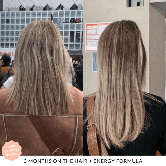 3 months results. Reviews JSHealth Hair + Energy