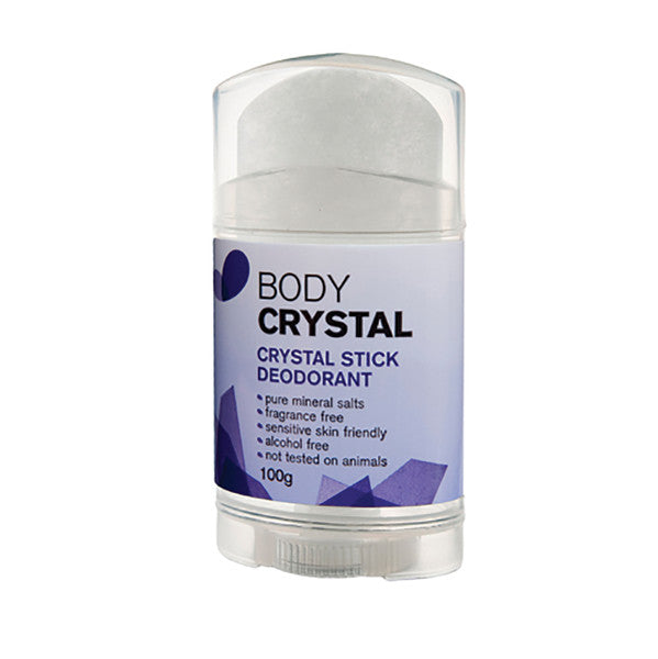 Body Crystal Crystal Stick Deodorant Frag Free 100g.Stop body odour before it starts! Naturally The Body Crystal is the perfect alternative to anti-perspirants which block your body's natural perspiration process by clogging your skins' pores. The Body Crystal prevents odour naturally by inhibiting bacterial growth on your skin which cause odour.