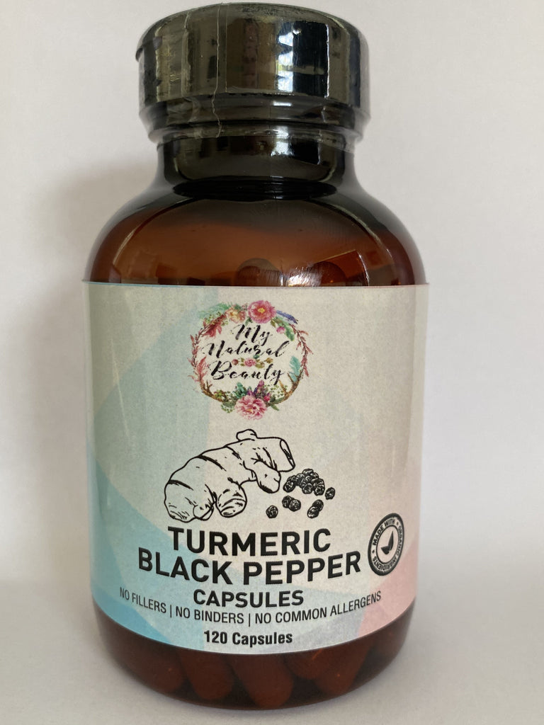 360 (3x 120 caps) 100% Natural Organic Turmeric and  Black Pepper Capsules